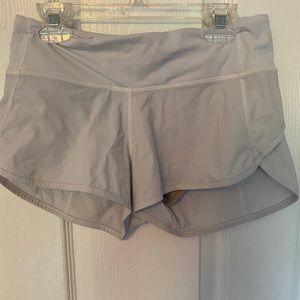 NWOT white lululemon speed up shorts